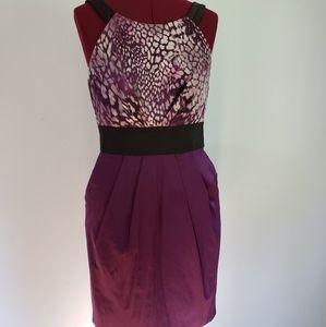 Teeze Me Purple Party Dress with Pockets